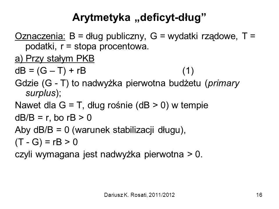 "Arytmetyka ""deficyt-dług"