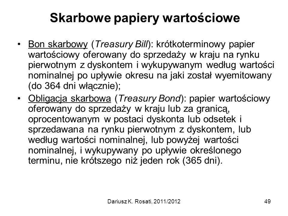 Skarbowe papiery wartościowe