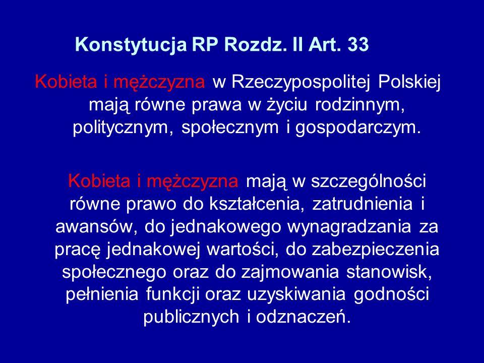 Konstytucja RP Rozdz. II Art. 33