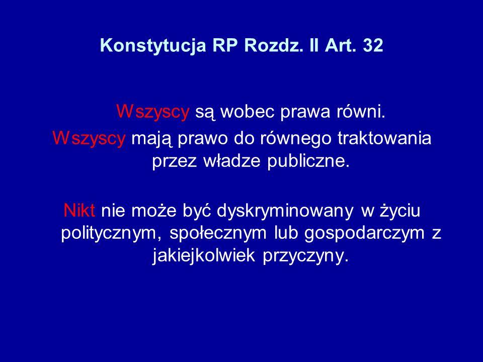 Konstytucja RP Rozdz. II Art. 32