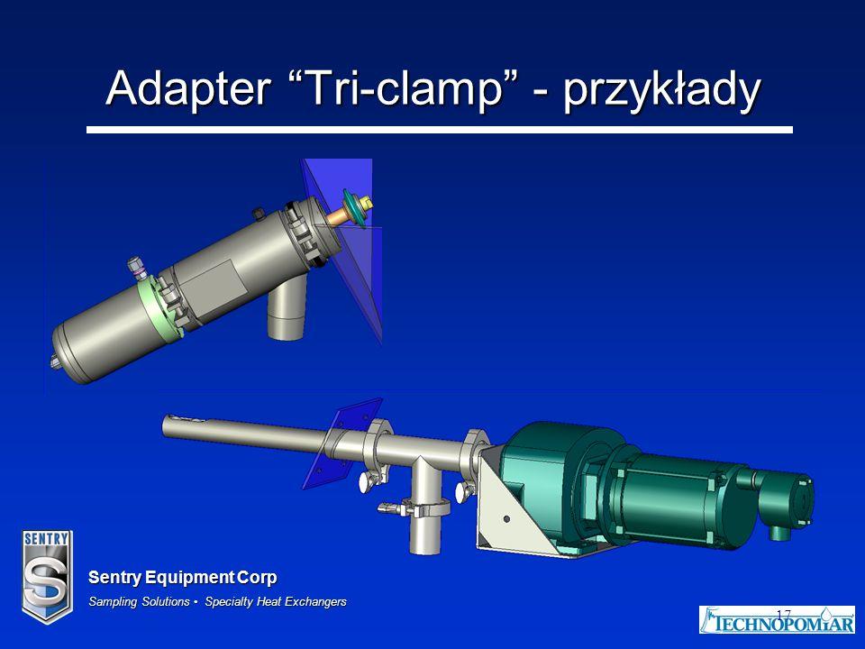 Adapter Tri-clamp - przykłady