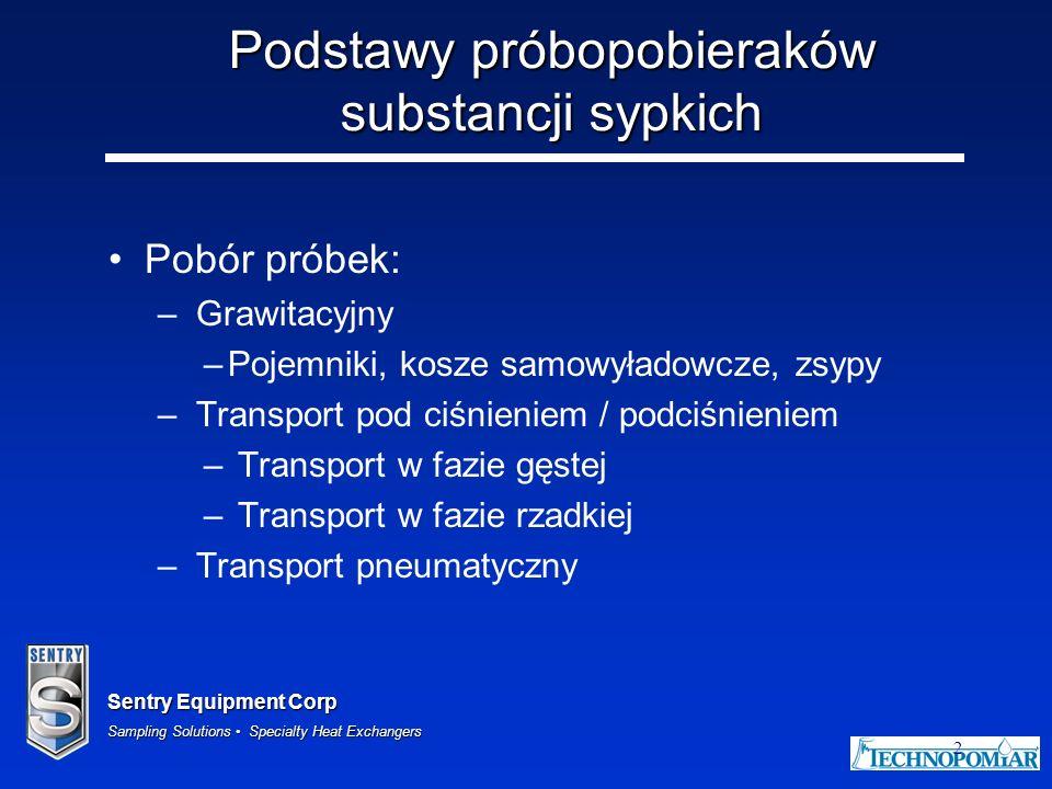 Podstawy próbopobieraków substancji sypkich