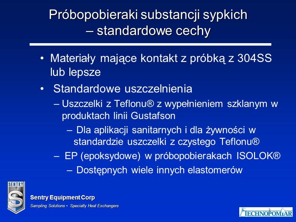 Próbopobieraki substancji sypkich – standardowe cechy
