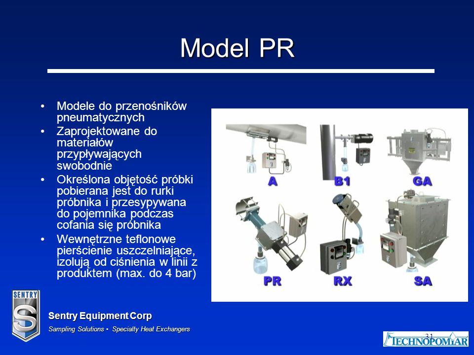 Model PR Modele do przenośników pneumatycznych