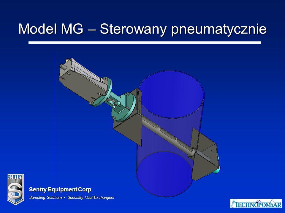 Model MG – Sterowany pneumatycznie