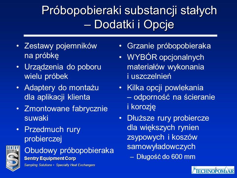 Próbopobieraki substancji stałych – Dodatki i Opcje
