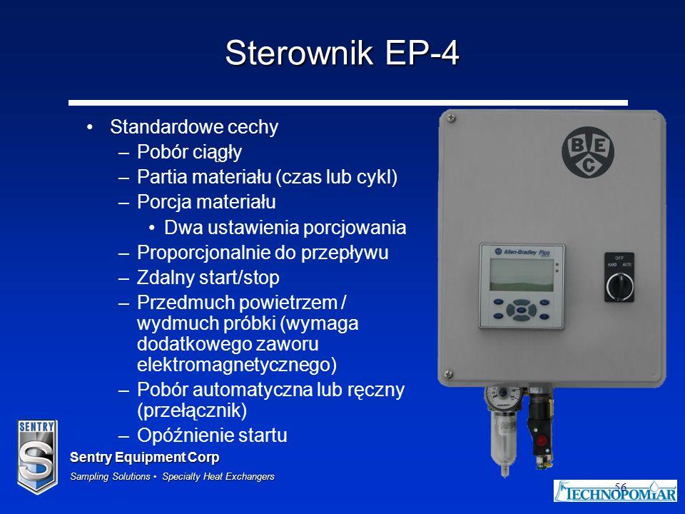 Sterownik EP-4 Standardowe cechy Pobór ciągły