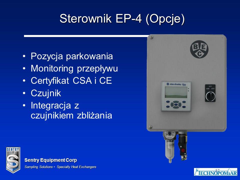 Sterownik EP-4 (Opcje) Pozycja parkowania Monitoring przepływu