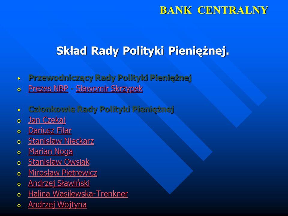 Skład Rady Polityki Pieniężnej.