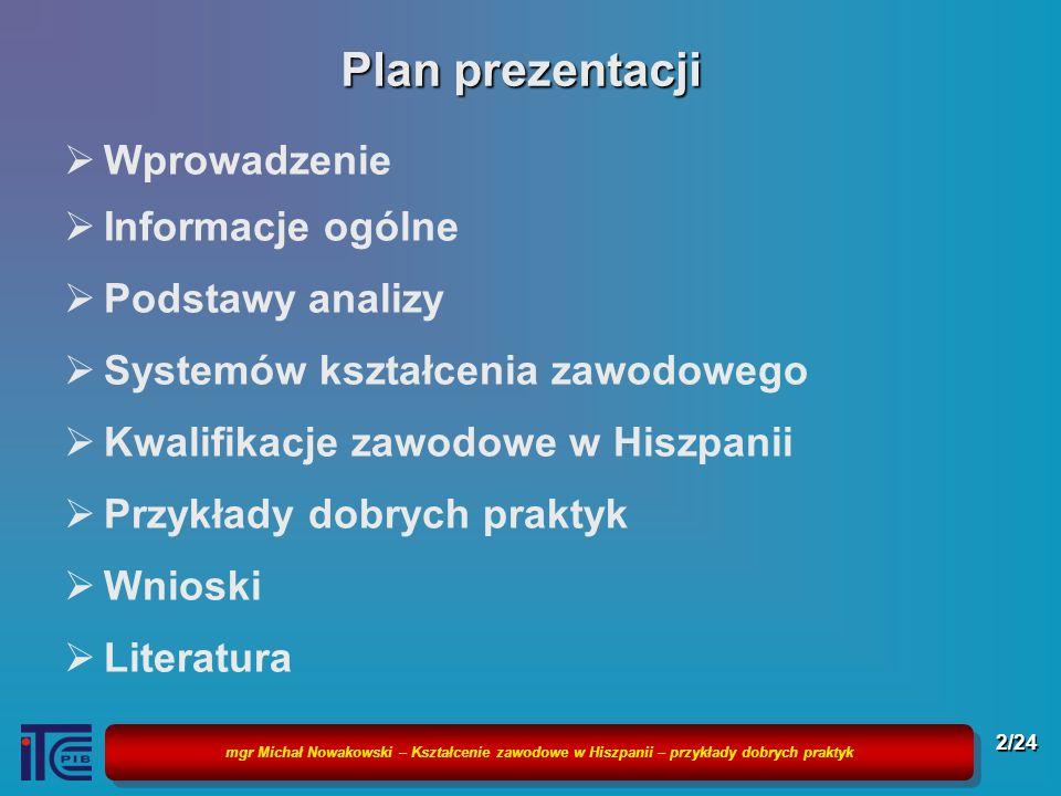 Plan prezentacji Wprowadzenie Informacje ogólne Podstawy analizy