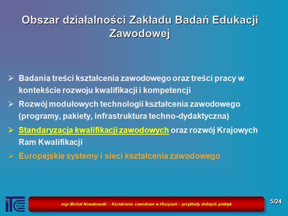 Obszar działalności Zakładu Badań Edukacji Zawodowej