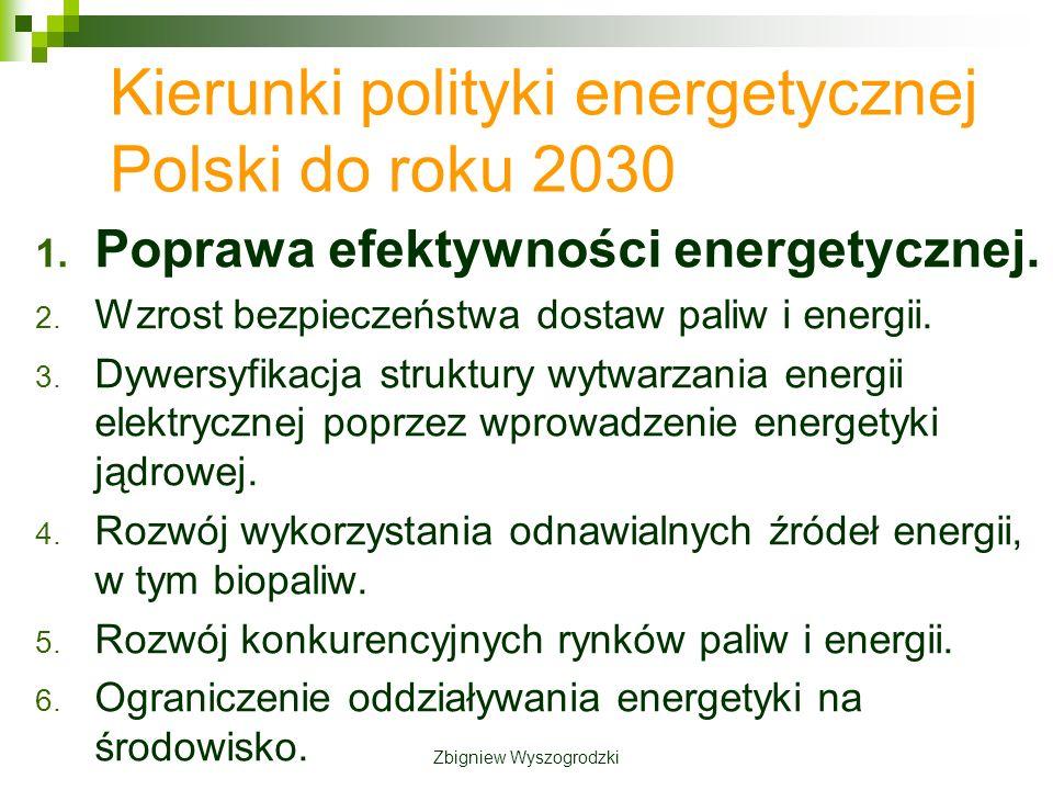 Kierunki polityki energetycznej Polski do roku 2030