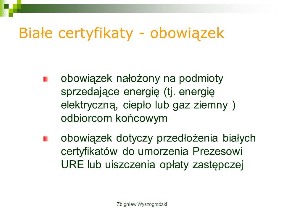 Białe certyfikaty - obowiązek