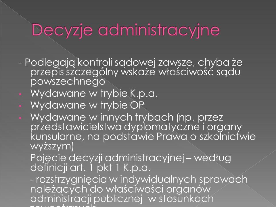 Decyzje administracyjne
