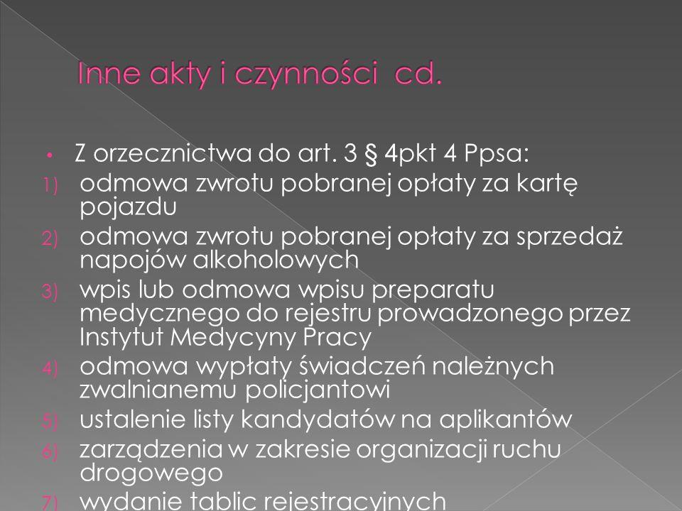 Inne akty i czynności cd.