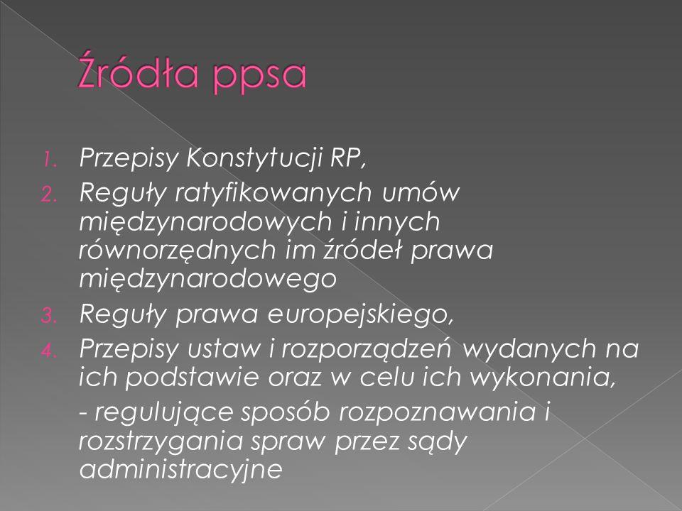 Źródła ppsa Przepisy Konstytucji RP,