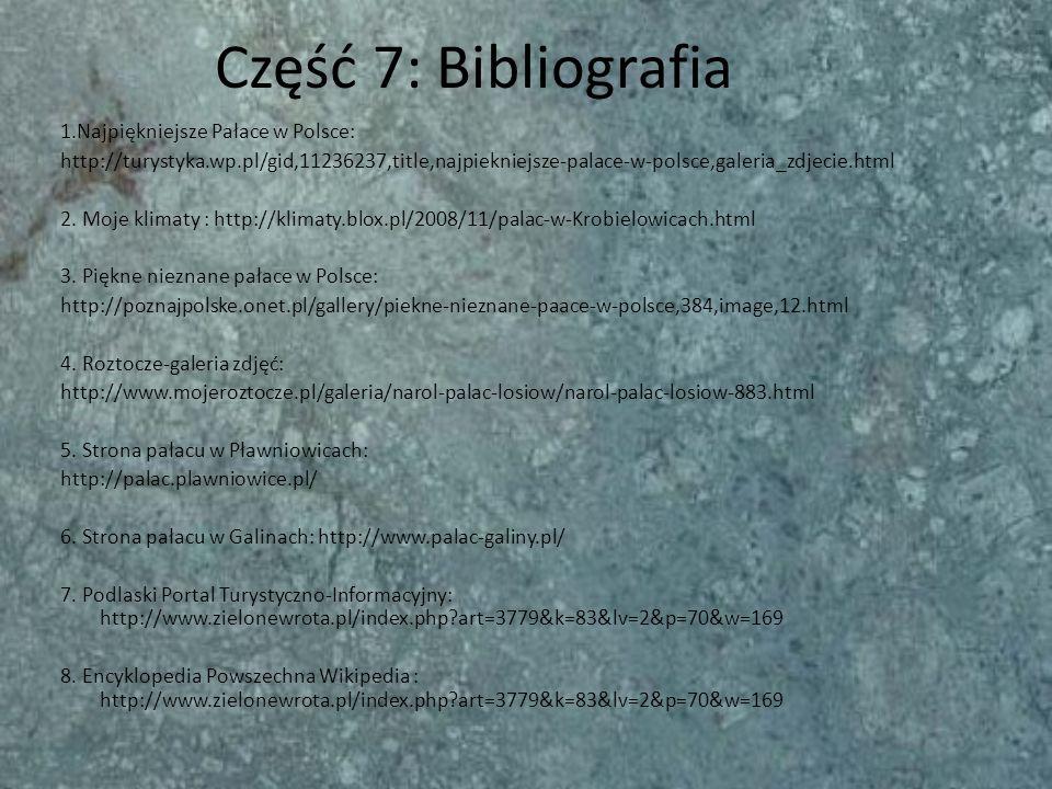 Część 7: Bibliografia