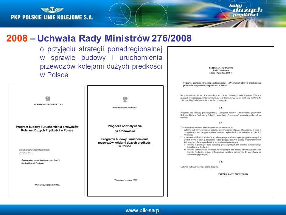 2008 – Uchwała Rady Ministrów 276/2008