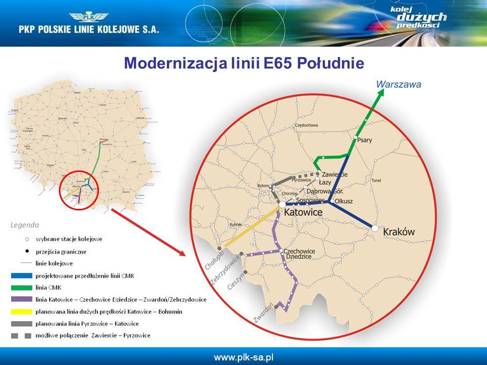 Modernizacja linii E65 Południe