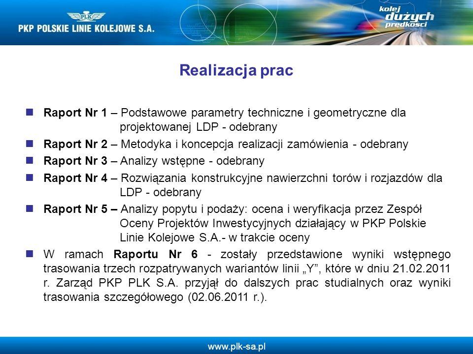 Realizacja prac Raport Nr 1 – Podstawowe parametry techniczne i geometryczne dla projektowanej LDP - odebrany.