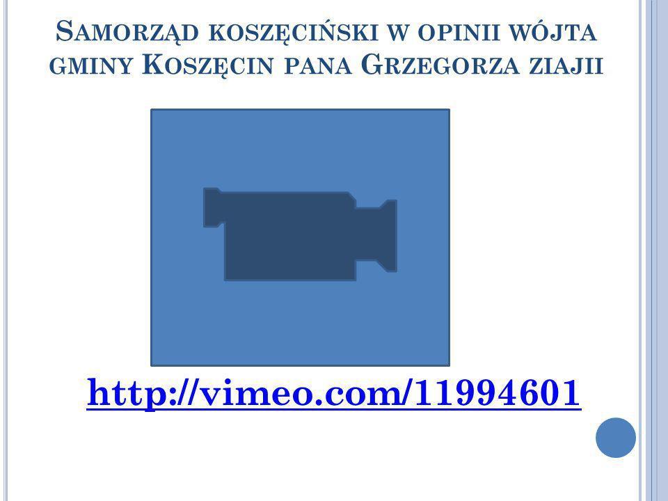 Samorząd koszęciński w opinii wójta gminy Koszęcin pana Grzegorza ziajii