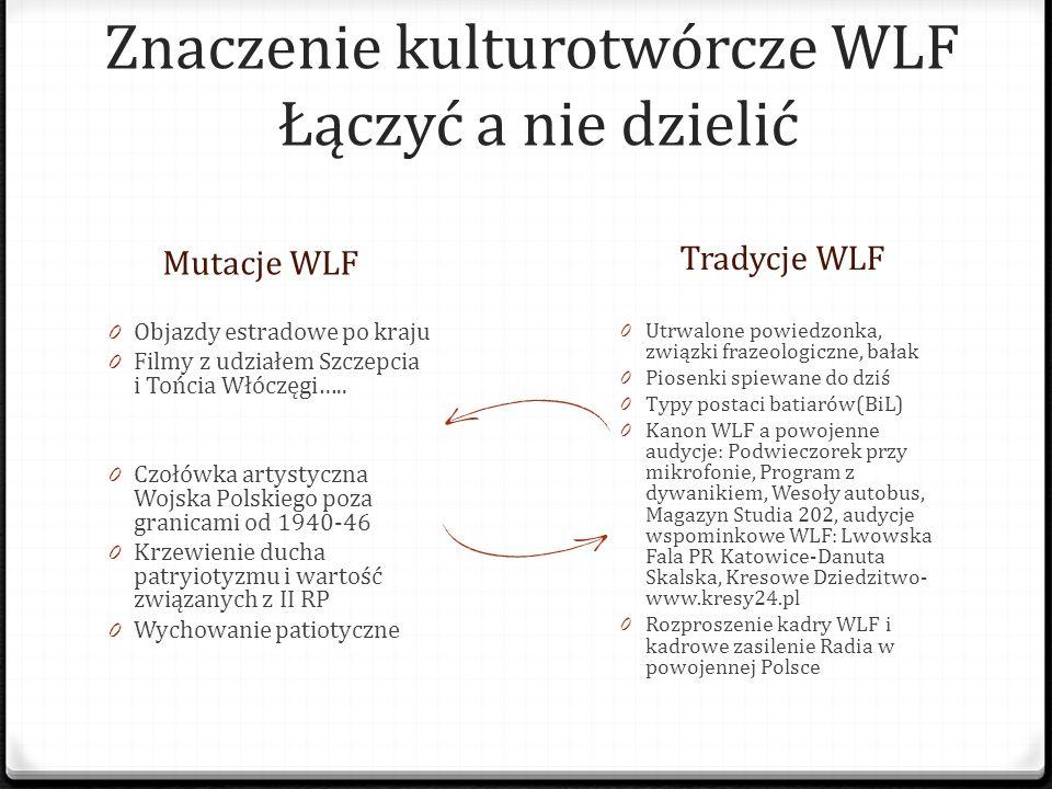 Znaczenie kulturotwórcze WLF Łączyć a nie dzielić