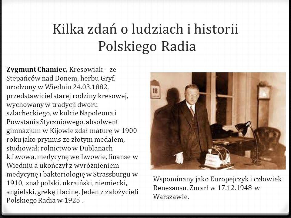 Kilka zdań o ludziach i historii Polskiego Radia