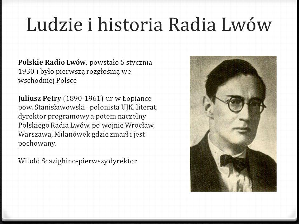 Ludzie i historia Radia Lwów