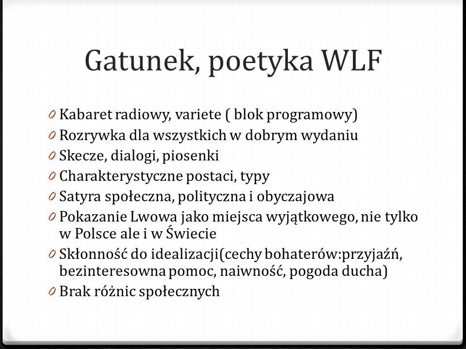 Gatunek, poetyka WLF Kabaret radiowy, variete ( blok programowy)