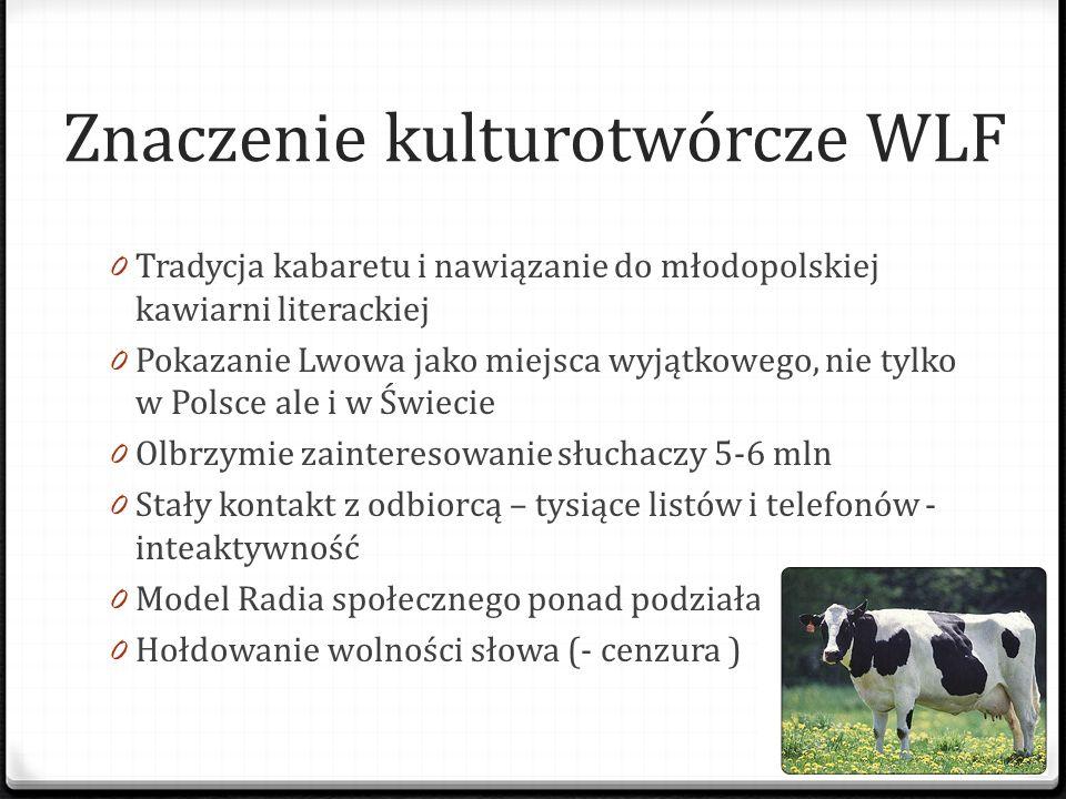 Znaczenie kulturotwórcze WLF