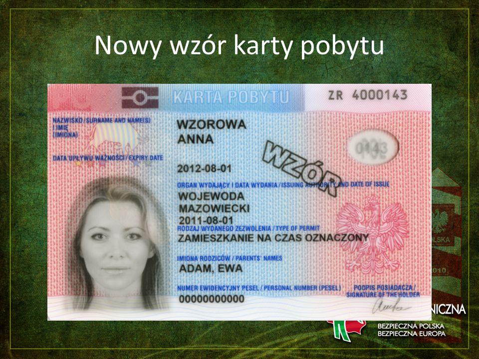 Nowy wzór karty pobytu