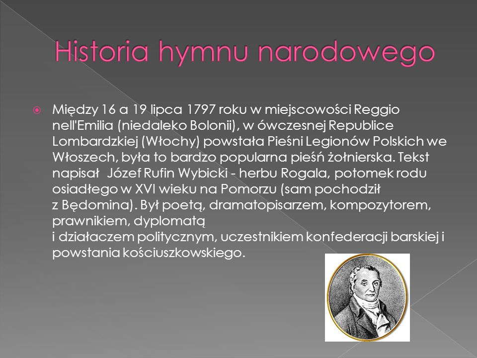 Historia hymnu narodowego