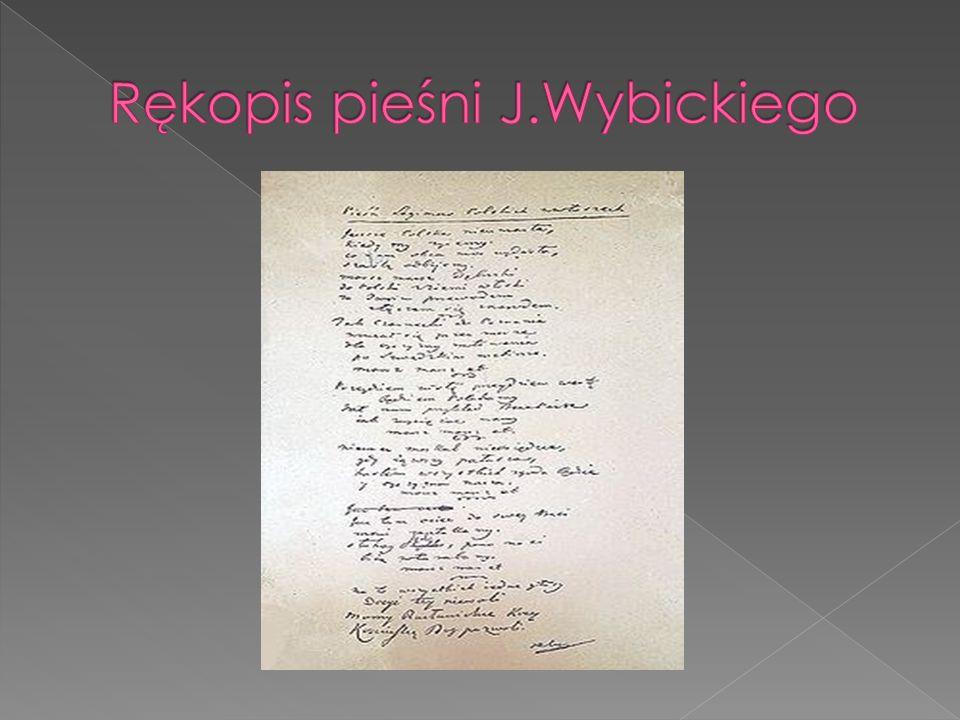 Rękopis pieśni J.Wybickiego