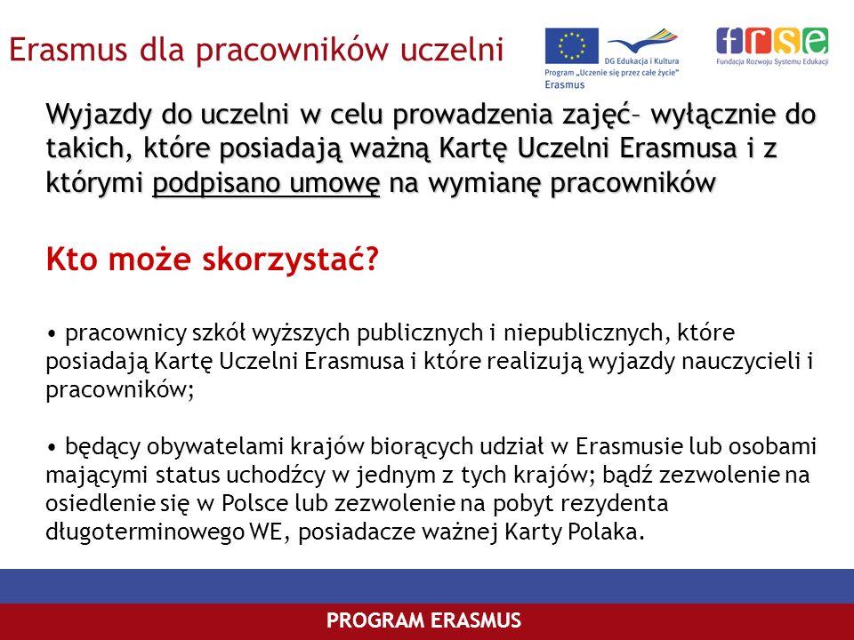 Erasmus dla pracowników uczelni