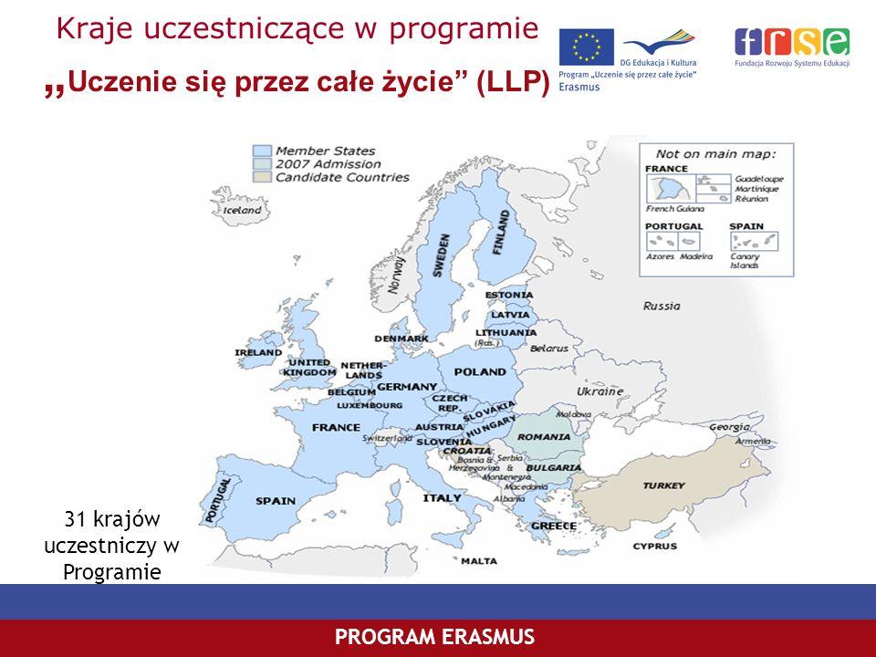 """Kraje uczestniczące w programie """"Uczenie się przez całe życie (LLP)"""