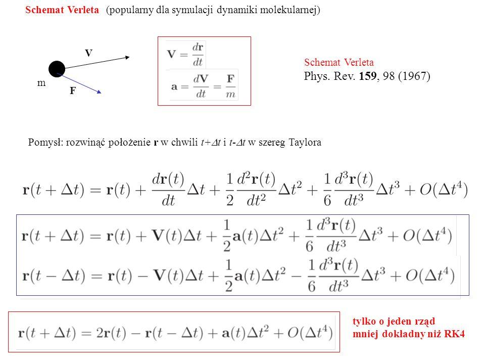 Schemat Verleta (popularny dla symulacji dynamiki molekularnej)