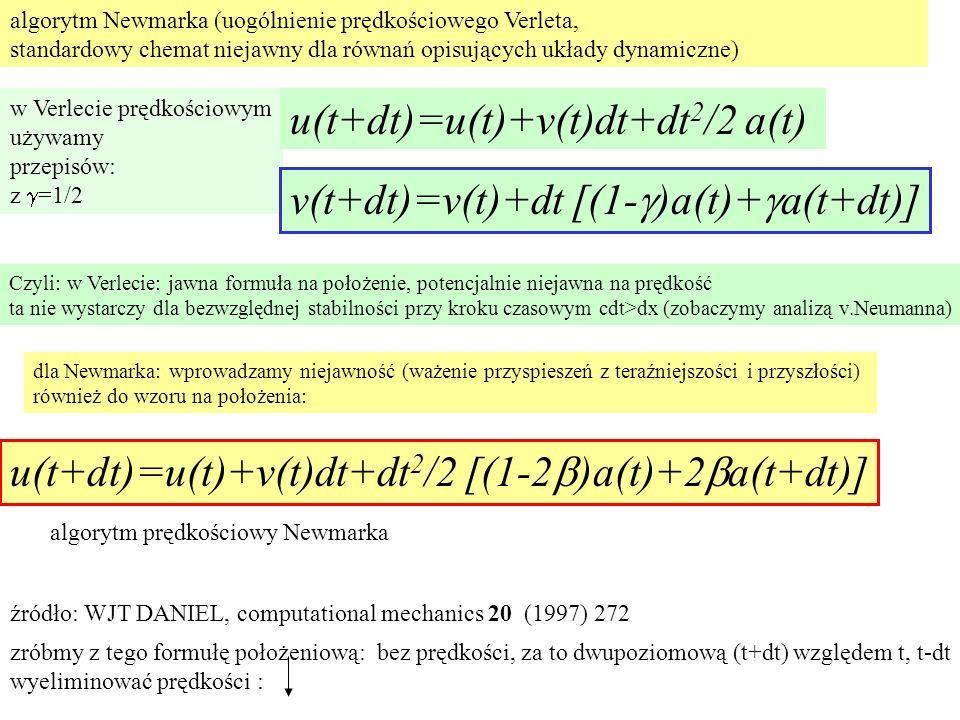 u(t+dt)=u(t)+v(t)dt+dt2/2 a(t)