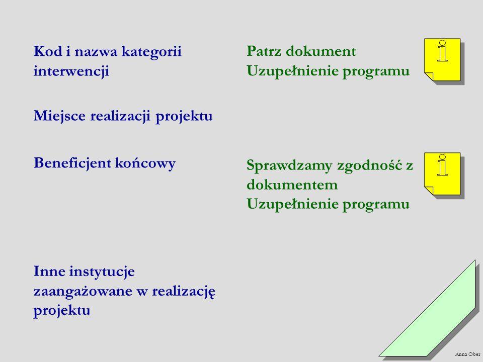 Uzupełnienie programu