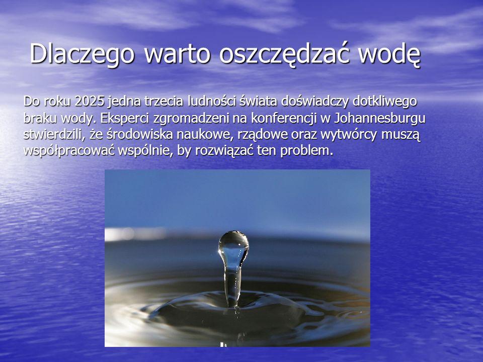 Dlaczego warto oszczędzać wodę