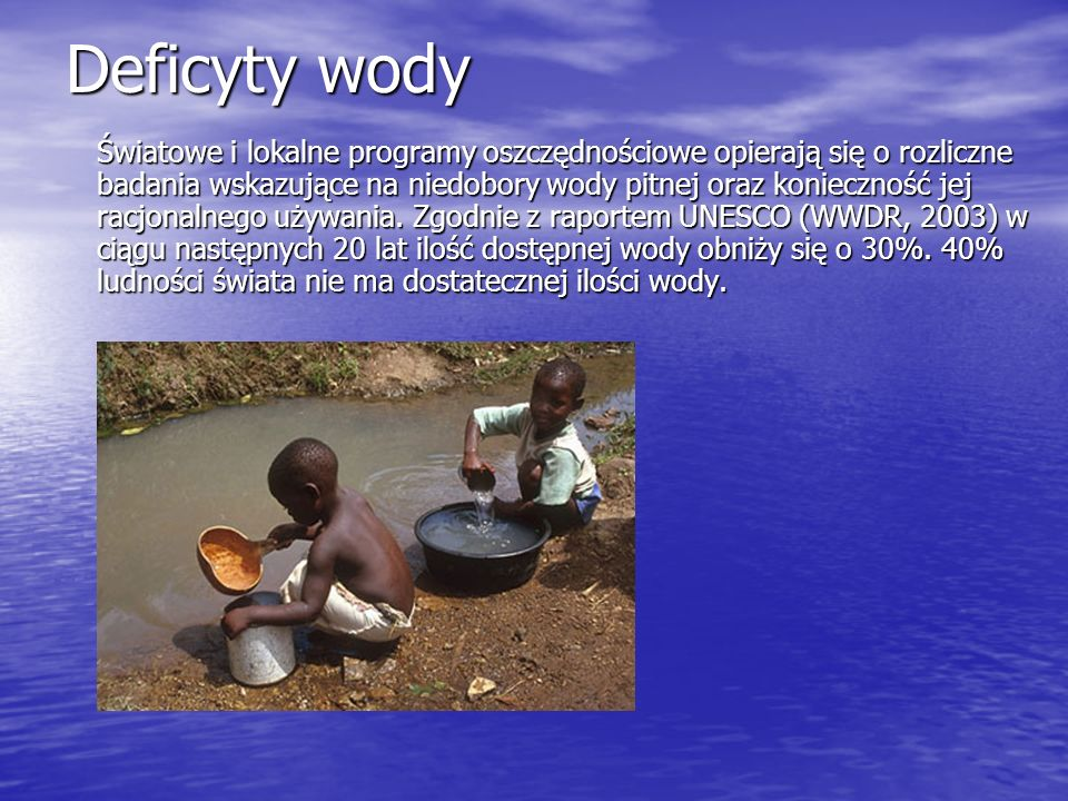 Deficyty wody