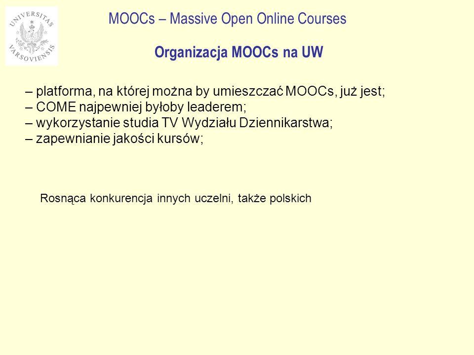 Organizacja MOOCs na UW
