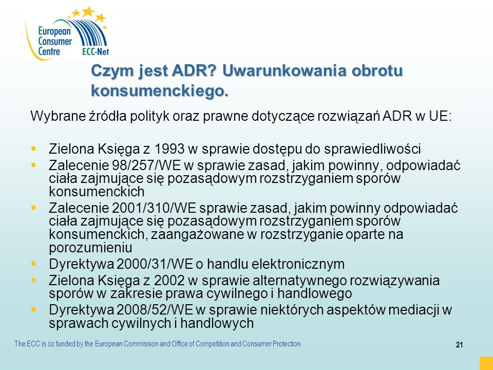 Czym jest ADR Uwarunkowania obrotu konsumenckiego.