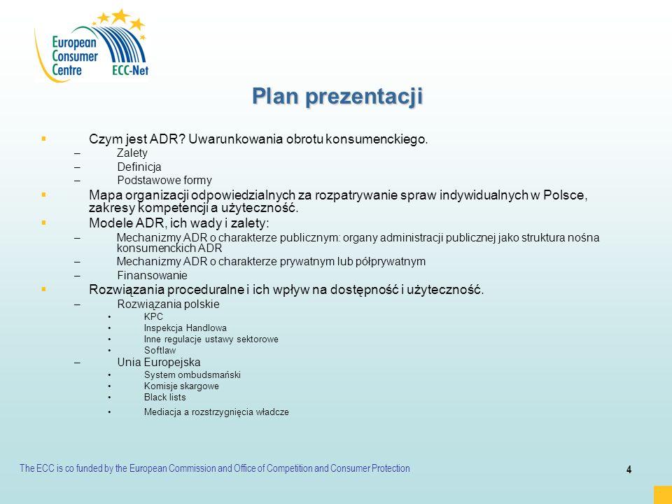 Plan prezentacji Czym jest ADR Uwarunkowania obrotu konsumenckiego.