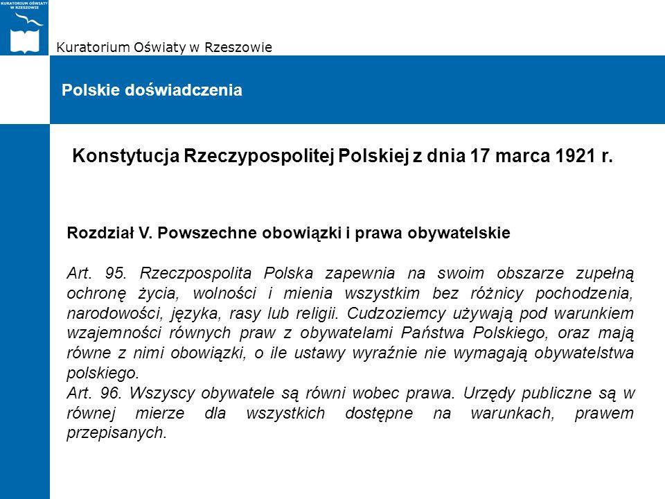 Konstytucja Rzeczypospolitej Polskiej z dnia 17 marca 1921 r.