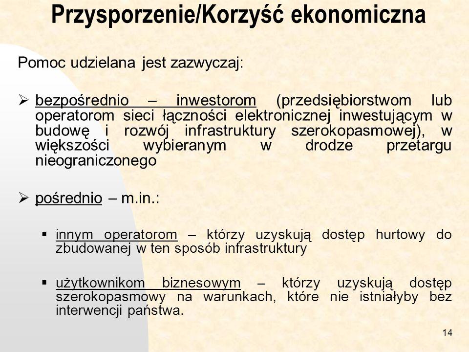 Przysporzenie/Korzyść ekonomiczna