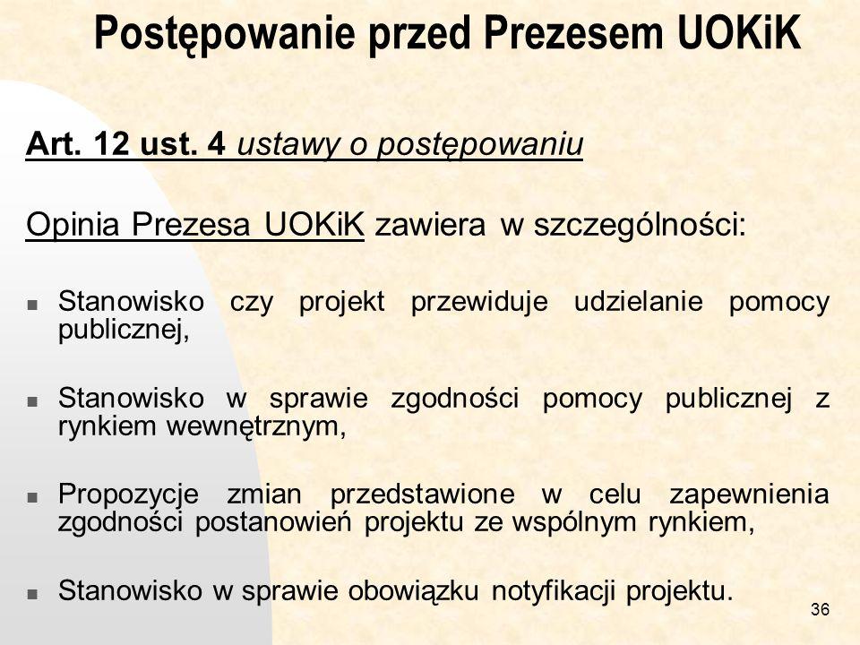Postępowanie przed Prezesem UOKiK
