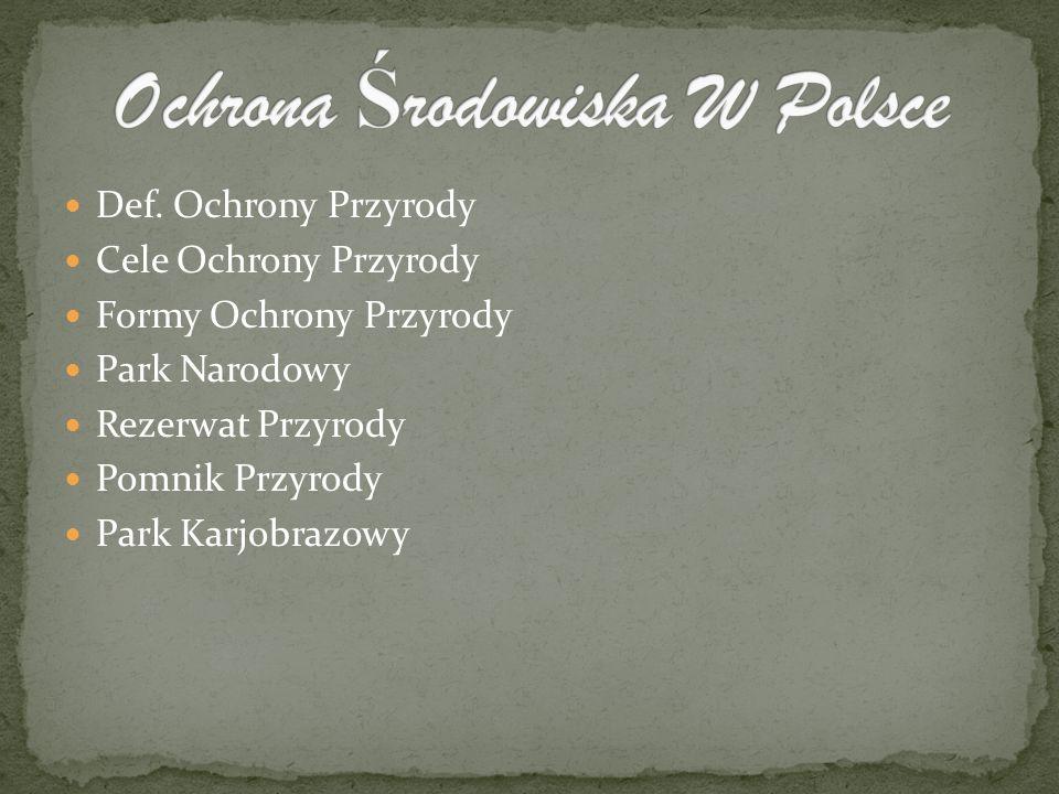 Ochrona Środowiska W Polsce