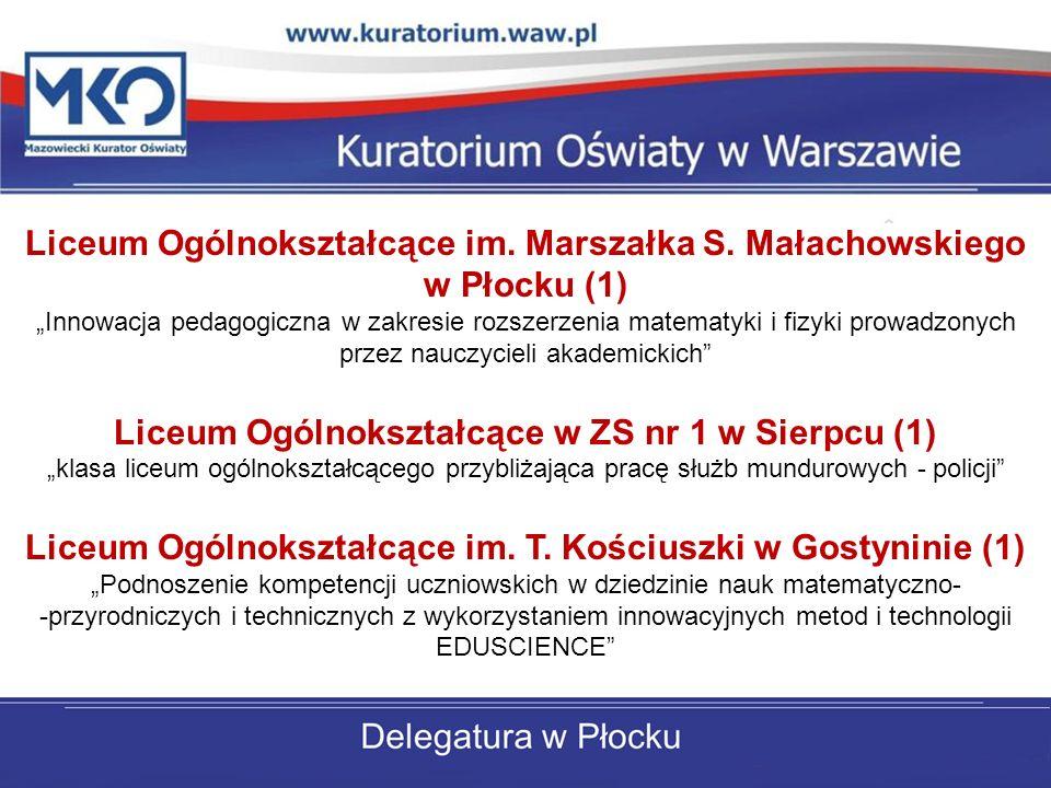 Liceum Ogólnokształcące im. Marszałka S. Małachowskiego w Płocku (1)