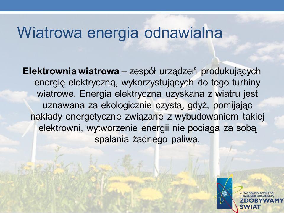 Wiatrowa energia odnawialna