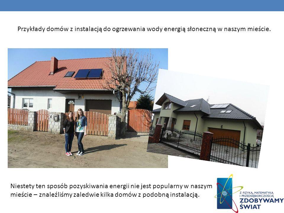 Przykłady domów z instalacją do ogrzewania wody energią słoneczną w naszym mieście.